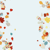 Schöne herbstblätter. — Stockvektor