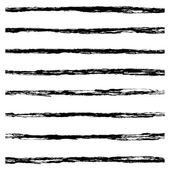 Set of Black brush strokes. — Stock Vector