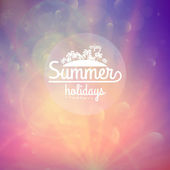 Summer holidays sunset with defocused lights. — Stock Vector