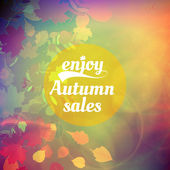 Autumn sale design template. — Wektor stockowy