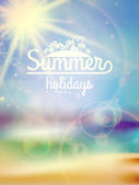 Summer holidays typography background. — Stock Vector
