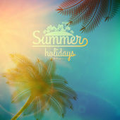 Palm Tree Sunset typography poster. — Wektor stockowy