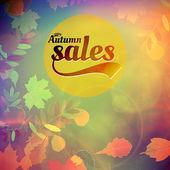 Autumn sale design template. — Stock Vector