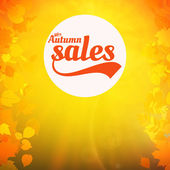 Autumn sale realistic Leaves typography poster. — Stockvektor