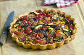 Roasted vegetable tart — Stock Photo