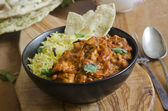 Jalfrezi with rice — Stock Photo