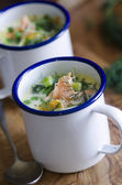 Haddock chowder — Stock Photo