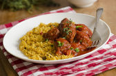 Meatballs with couscous — Stock Photo