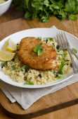 Chicken with couscous — Stock Photo