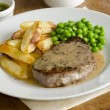 Steak with chips — Stock Photo #44976471