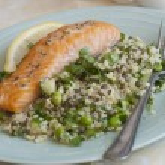 Salmon with salad  — Stock Photo #44987523
