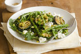 Courgette and asparagus salad — Stock Photo