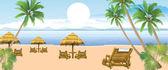 Spiaggia estiva — Vettoriale Stock