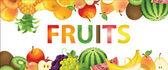 Fruits banner — Stock Vector
