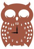 Buho de reloj de pared — Vector de stock