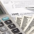 Stock Photo: Calculating Tax