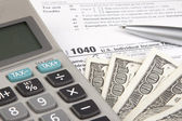 Calculating Tax — Stock Photo