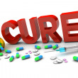 Stock Photo: Cure Medication