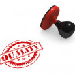 Quality Rubber Stamp — Stock Photo