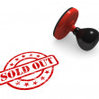 Sold Out Rubber Stamp — Stock Photo #41831609