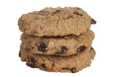 Three Oatmeal Cookies — Foto de Stock