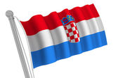 Croatia  Flag On Pole — Stock Photo