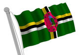 Dominica Flag On Pole — Stock Photo