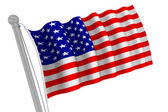 United States of America Flag on Pole — Stock Photo