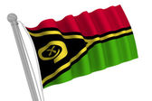 Zimbabwe Flag on Pole — Stock Photo