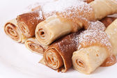 Sweet pancakes in a traditional style — Stock Photo