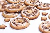 Zandkoek cookie onder glazuur — Stockfoto