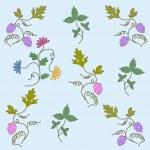 Grape seamless pattern — Stock Vector #48403151