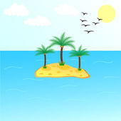 Uninhabited Island — Stock Vector