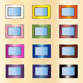 Many photo frames — Stock Vector