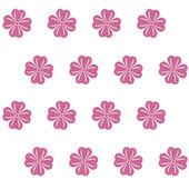 Seamless pattern with pink flowers — Stock Vector