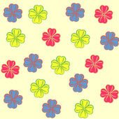 Cute flowers pattern. Seamless vector. — Stock Vector