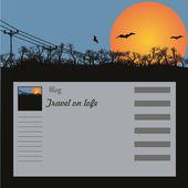 Arrière-plan pour un site, le blog — Vecteur