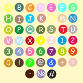 Colorful Alphabet made from plasticine. — Stock Vector