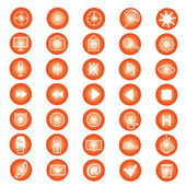Set of icons for a site — Stock Vector