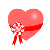 вектор, подарок, сердце — Cтоковый вектор