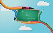 πίσω στο μαυροπίνακα σχολείο — Διανυσματικό Αρχείο