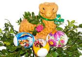 复活节烘烤和鸡蛋 — 图库照片
