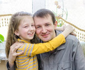 Father and daughter the happy — Stock Photo