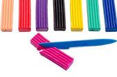 Multi-colored plasticine — Stock Photo