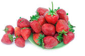Fresh strawberry on a plate — Stockfoto