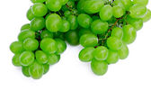 Green grapes on a white background — Stock Photo