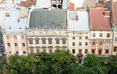 View from height on Lviv city — Stock Photo
