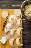 Homemade dumplings — Stock Photo