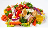 Chicken gyros salad — Stock Photo
