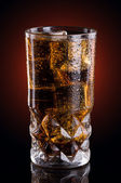 Cold cola in a glass — Stock Photo